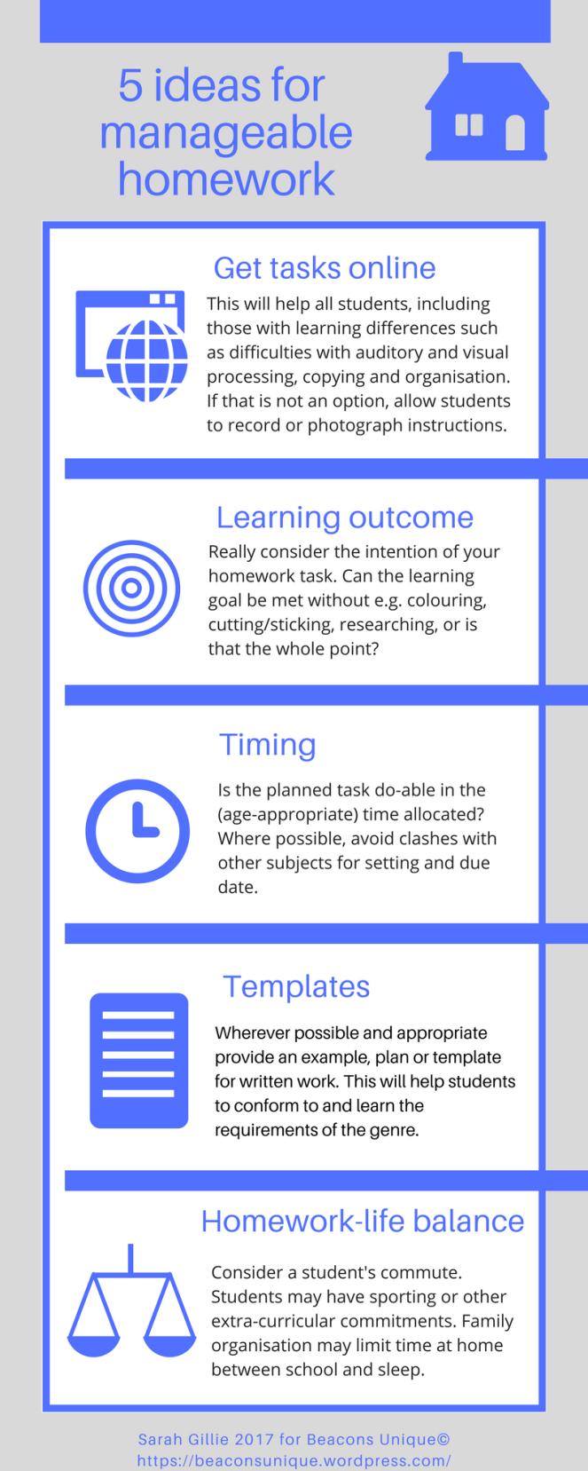 5 ideas to make homework work for you