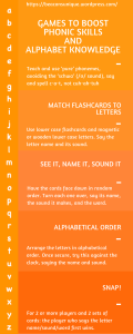 GAMES TO BOOST PHONIC SKILLS AND ALPHABET KNOWLEDGE