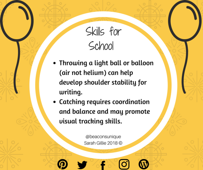 Skills for School throw and catch