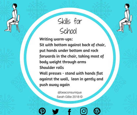 Skills for School Writing warmups
