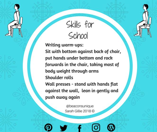 Skills for School Writing warmups