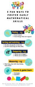 White background 5 games to foster early mathematical skills