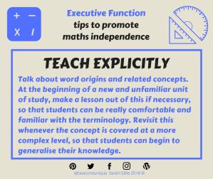 Math explicit