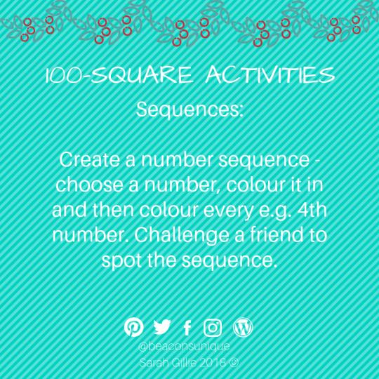 100 square sequences
