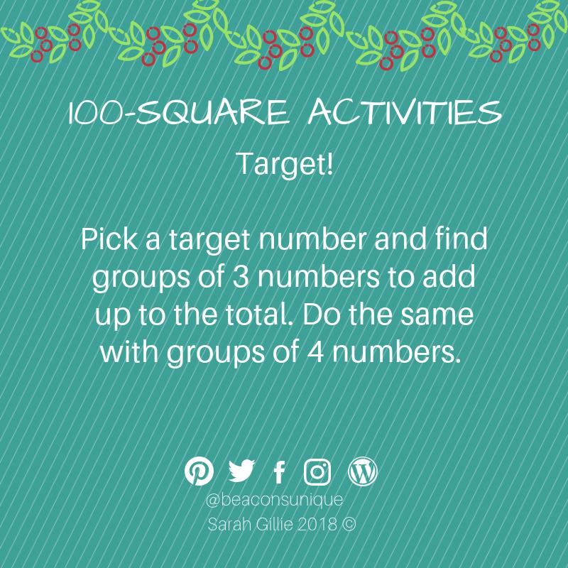 100 square target