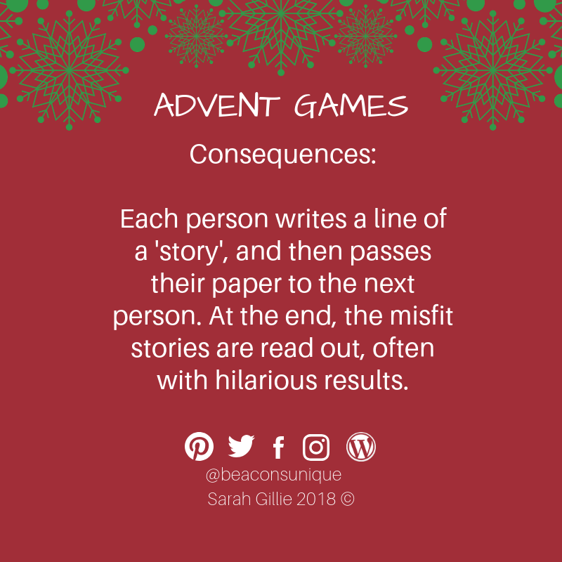 Advent games consequences