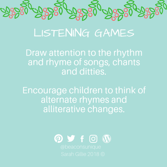 Advent listening rhythm and rhyme