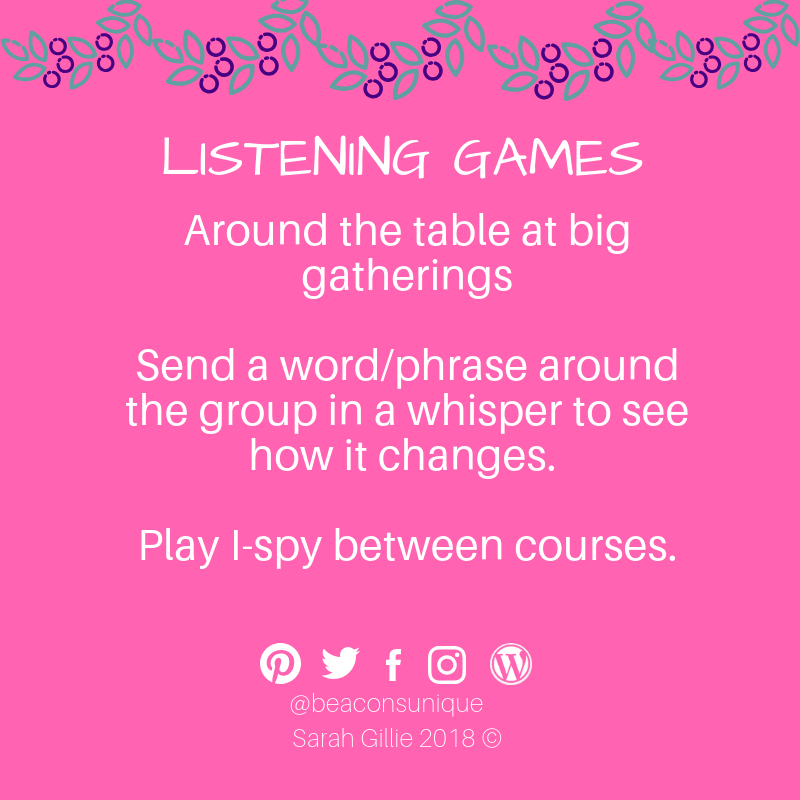 Advent listening table games