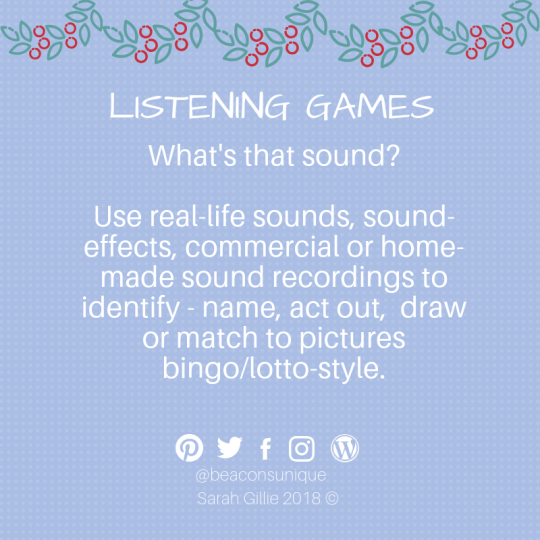 Advent listening whats that sound