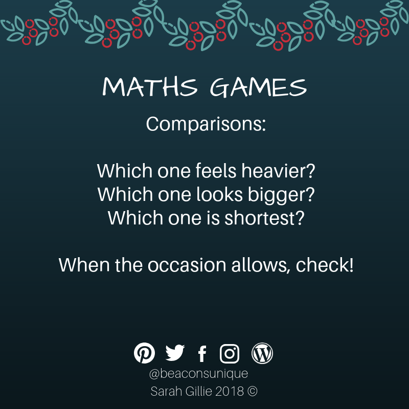 Advent maths comparisons