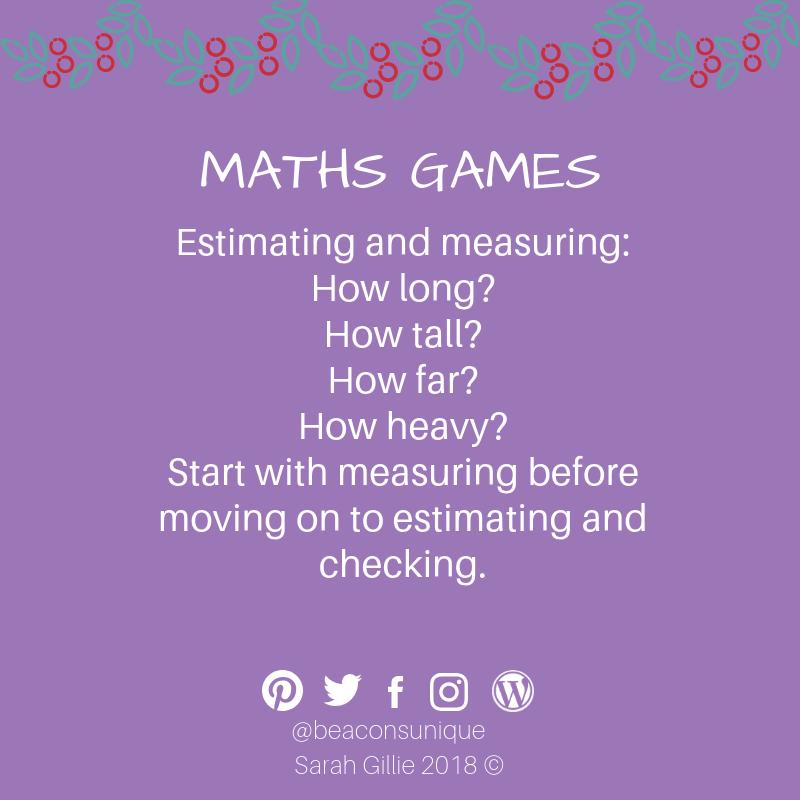 Advent maths measuring