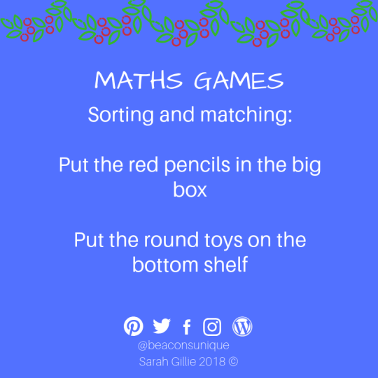 Advent maths sorting